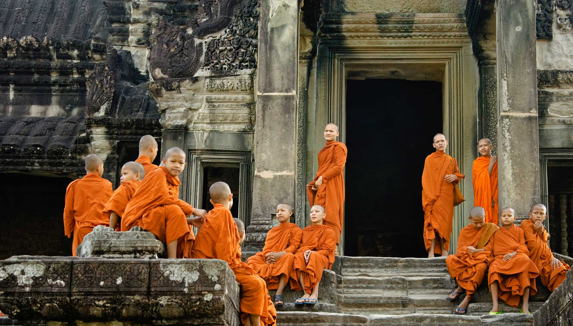 Monk at Angkor Wat Temple